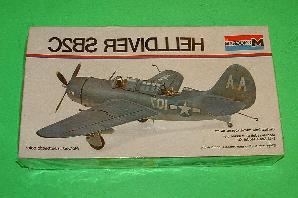 helldiver sb2c 1 48 scale plastic model