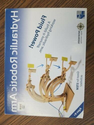 hydraulic robotic arm wood construction model kit