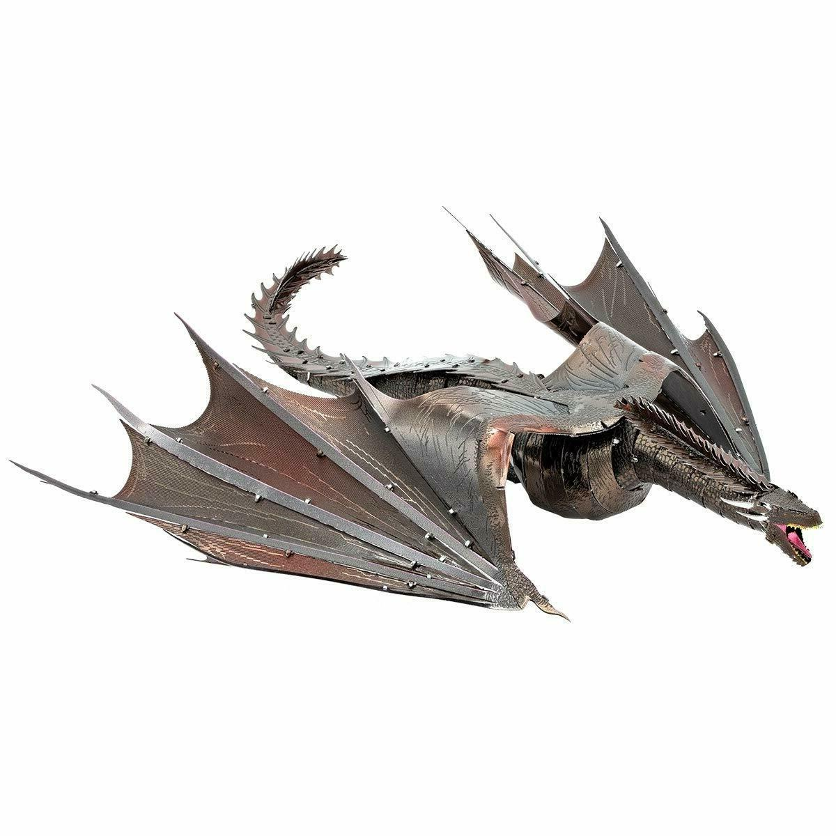 iconx game of thrones drogon 3d steel