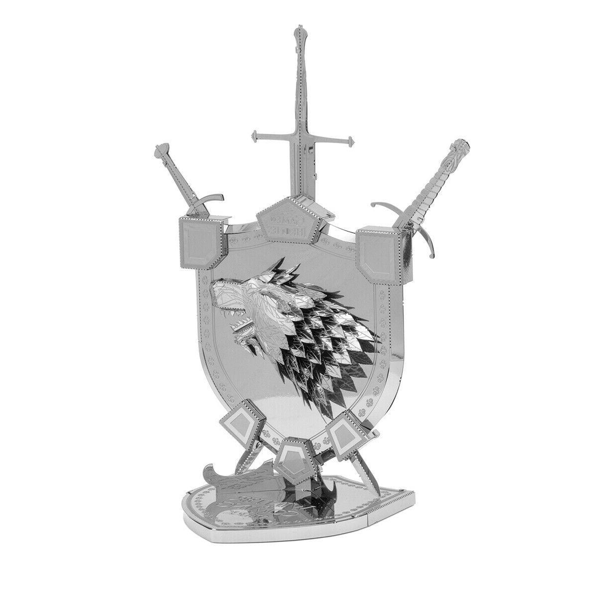 Fascinations ICONX Thrones HOUSE STARK SIGIL 3D Metal Kit