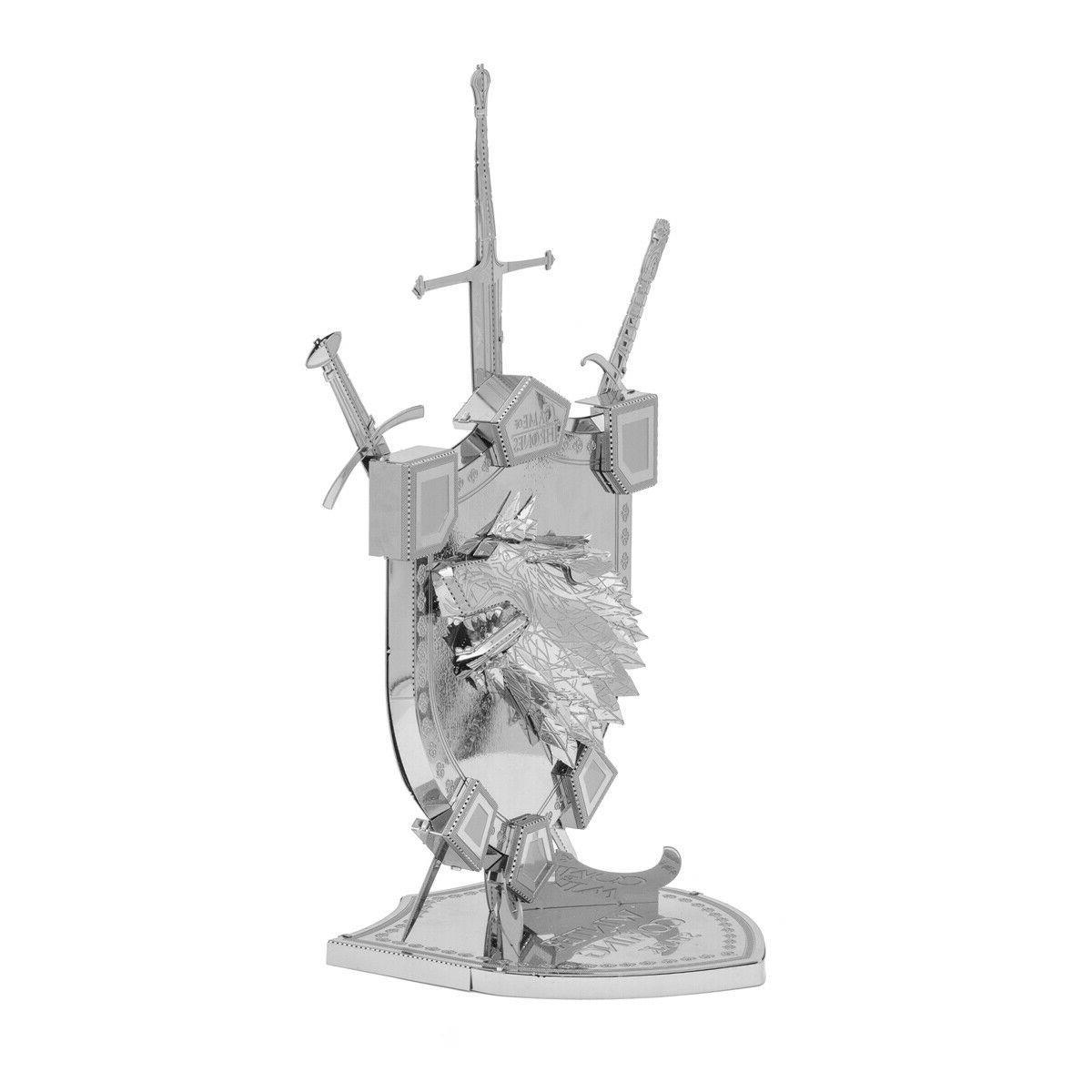 Fascinations Thrones STARK 3D Metal Model