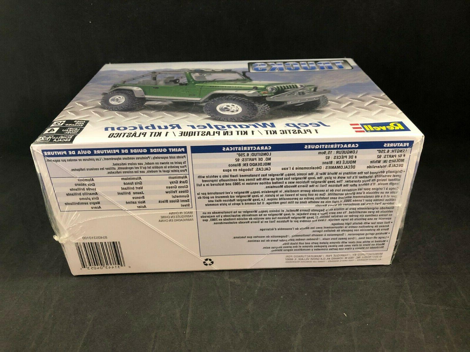Revell Wrangler Rubicon 1:25 Scale Plastic Model Kit 85-4053 New Box
