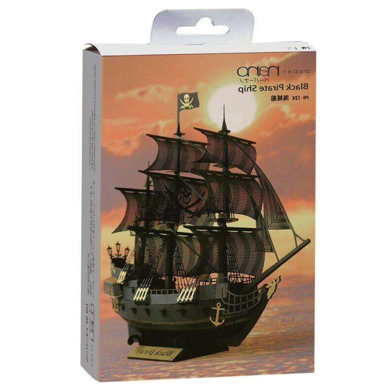 kawada paper nano black pirate ship paper