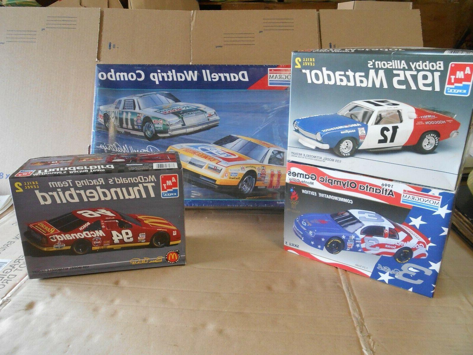 Lot Of 4 Nascar Model Kits , Earnhardt