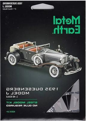 metal earth 1935 duesenberg model j automobile