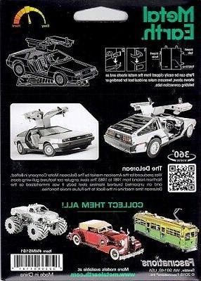 Fascinations Metal Earth 3D Model DeLorean
