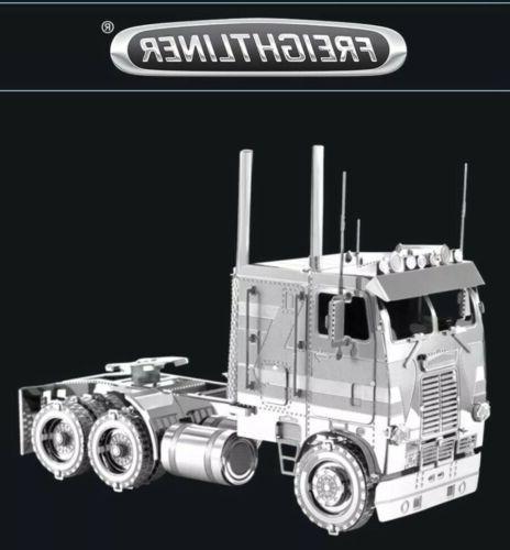 metal earth freightliner coe truck big rig