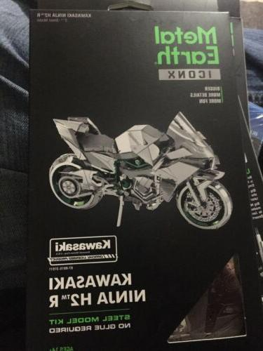 metal earth iconx kawasaki ninja h2r motorcycle