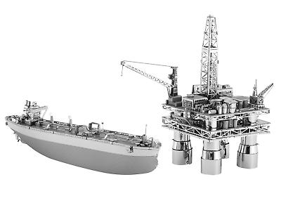 Fascinations Metal Earth Model Kits Offshore Oil Rig and Oil