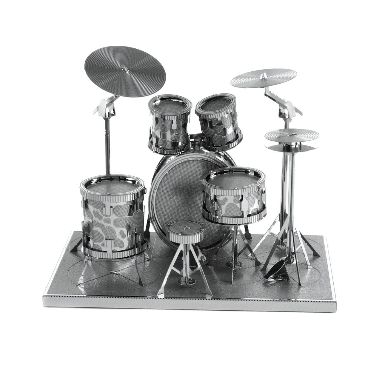 Fascinations Metal Drum Set Cut Steel Instrument Model Kit