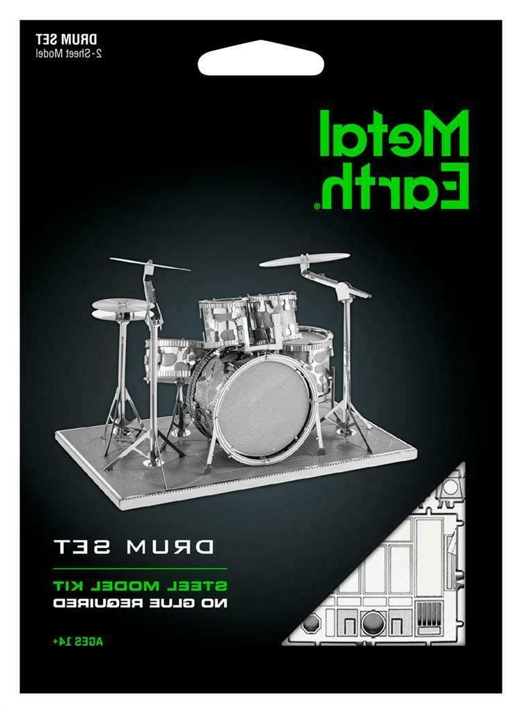 metal earth modern drum set 3d laser