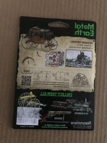 Fascinations Metal Earth West STAGECOACH Steel Model