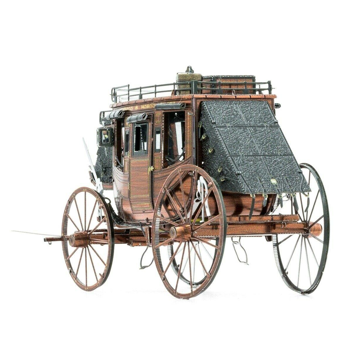 Fascinations Metal West Stagecoach 3D Puzzle Kit MMS189