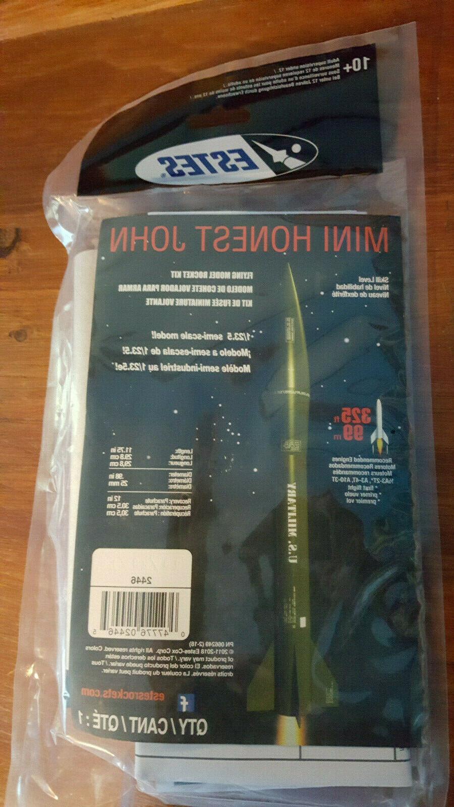 mini honest john flying model rocket kit