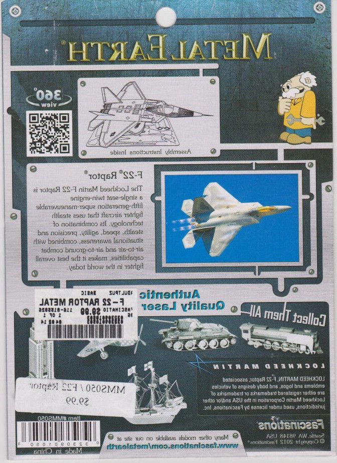 Fascinations MetalEarth F-22 Raptor