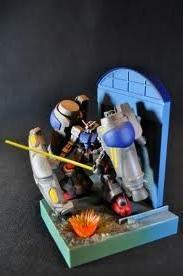 Mobile Suit Gundam 0083 Weathering & Light up diorama - Gund