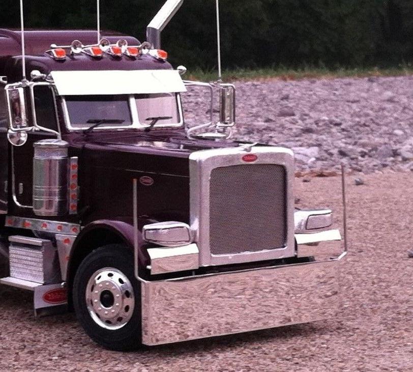 model truck polished aluminum drop bumper peterbilt