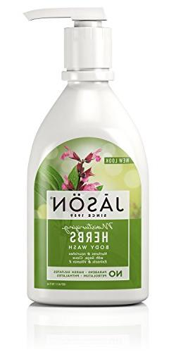 Jason 30 oz Moisturizing Herbs Pure Natural Body Wash