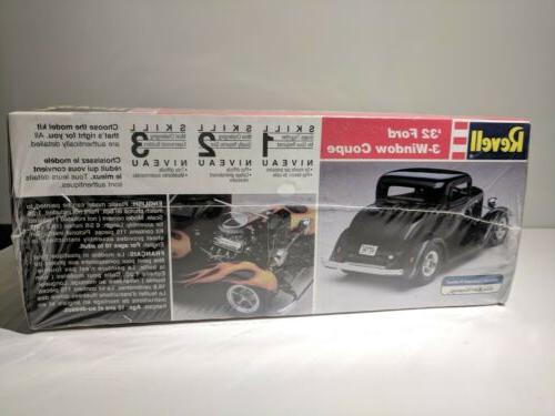 Revell Monogram 3 Window Coupe Model Kit Scale SEALED Brand