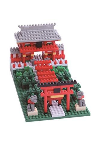 nanoblockinari shrine building kit
