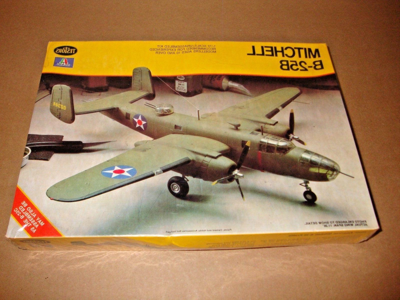 NEW SEALED Testors 861 Mitchell B-25B Bomber 1:72 Model Kit