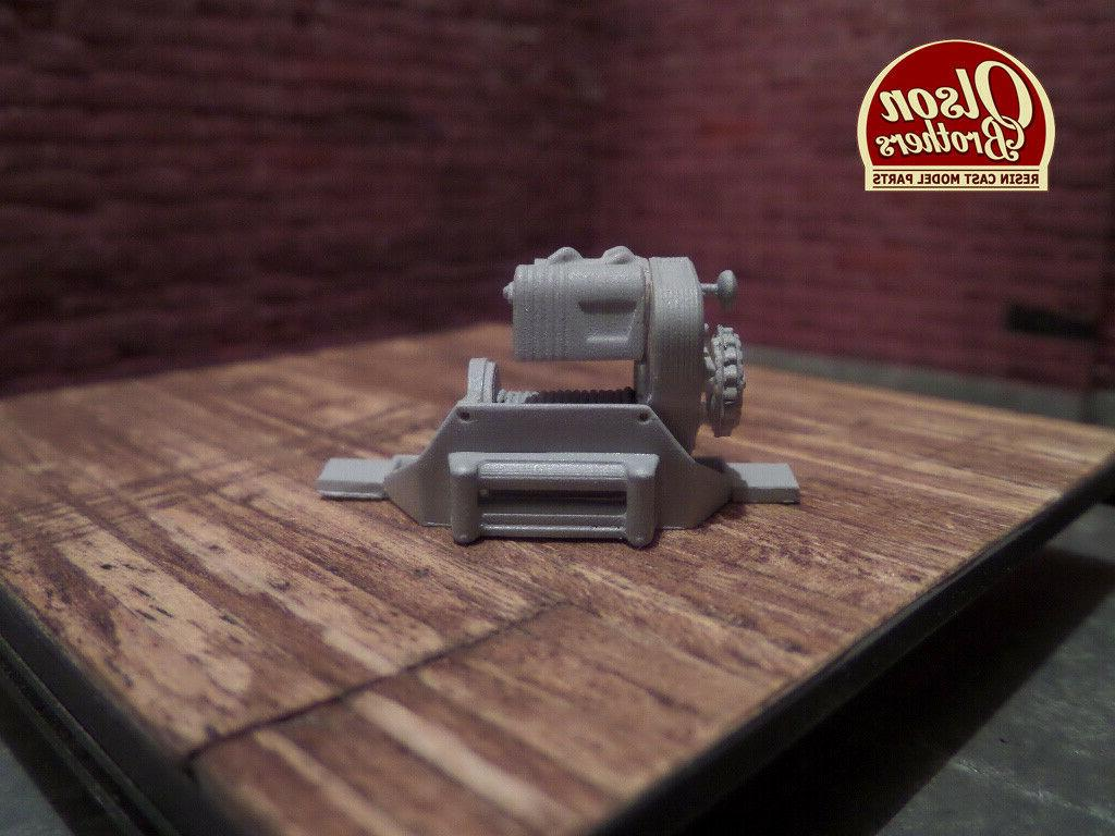Olson Brothers Scale Winch Kit Resin 3D