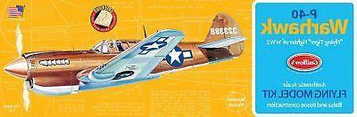 P-40 WARHAWK WWII Fighter Flying Tiger Balsa wood Air Plane