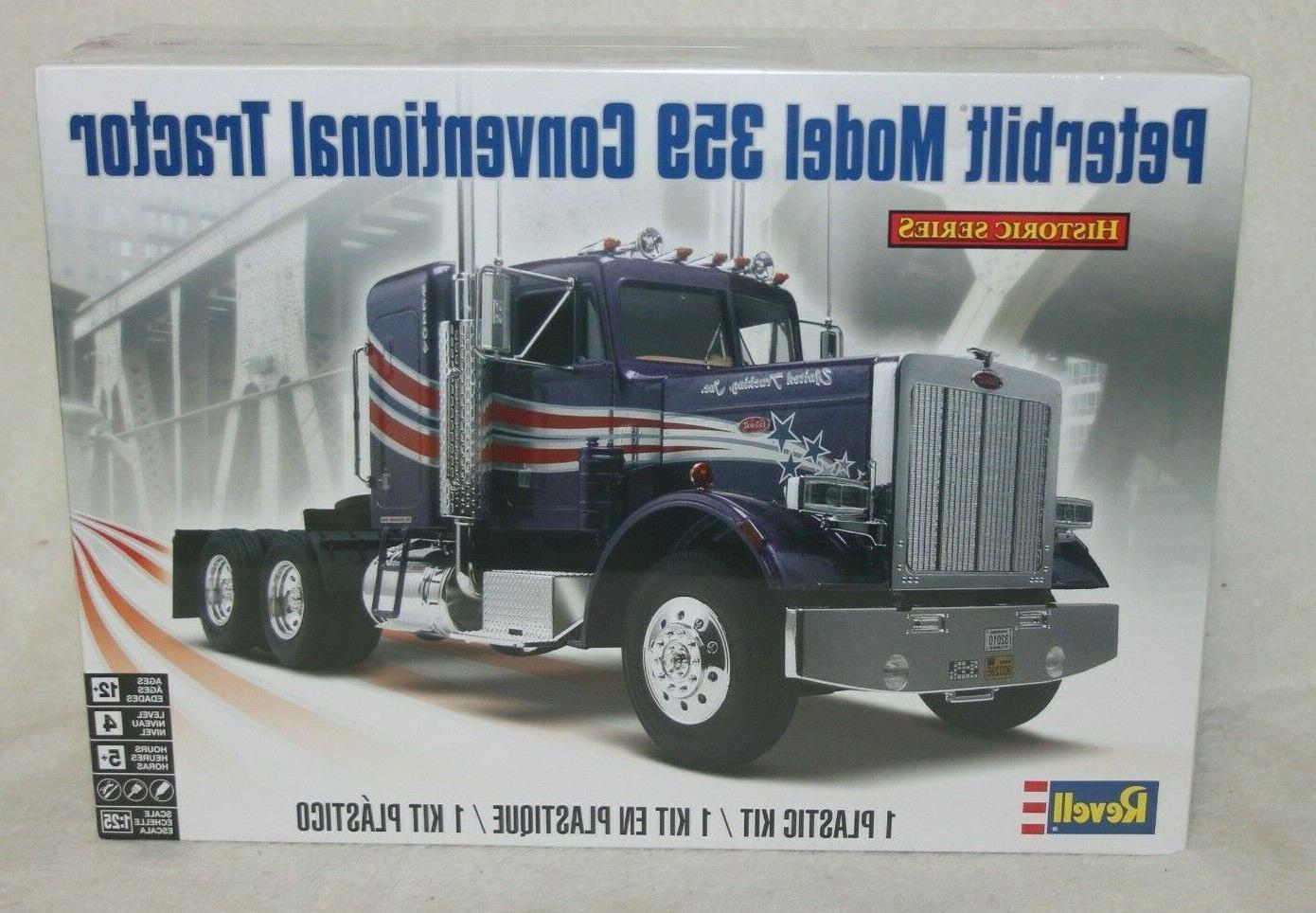 peterbilt 359 conventional semi truck tractor sealed