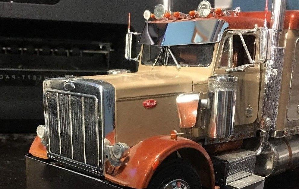 peterbilt model truck polished aluminum drop visor