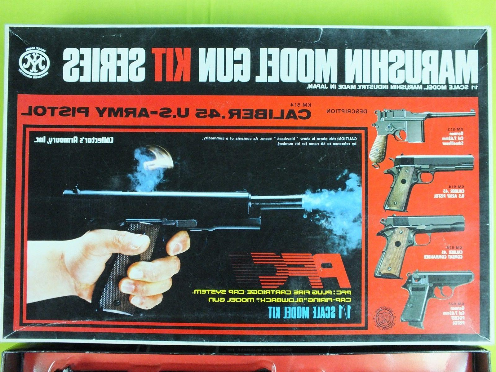 RARE JAPAN MARUSHIN MODEL GUN KIT CALIBER .45 US ARMY PISTOL