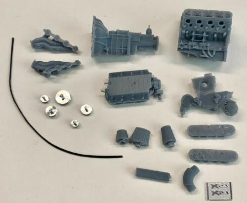 Resin Chevy Engine w Aluminum Pulleys 1/24 1/25