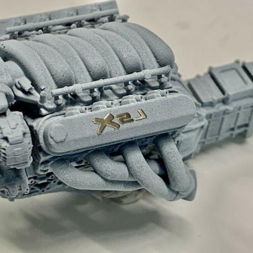 Resin Chevy Engine Motor w 1/25