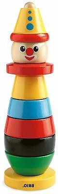 Brio STACKING CLOWN Baby Infant Toddler Wooden Toy