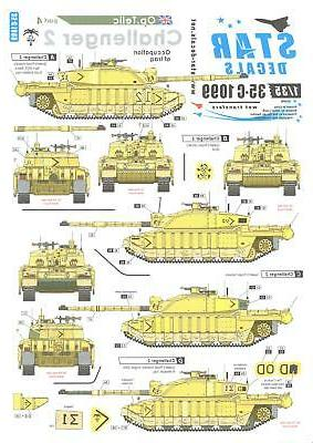 Star Decals 1/35 OPERATION TELIC CHALLENGER TANKS in the OCC