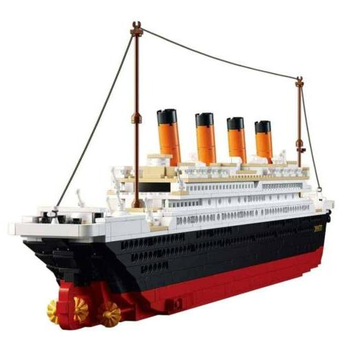 Titanic Building Blocks Lego Ship Model Set For Kids Adult L