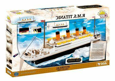 titanic building blocks ship model set