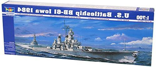 trumpeter 1 700 uss iowa bb61 battleship 1984 model kit