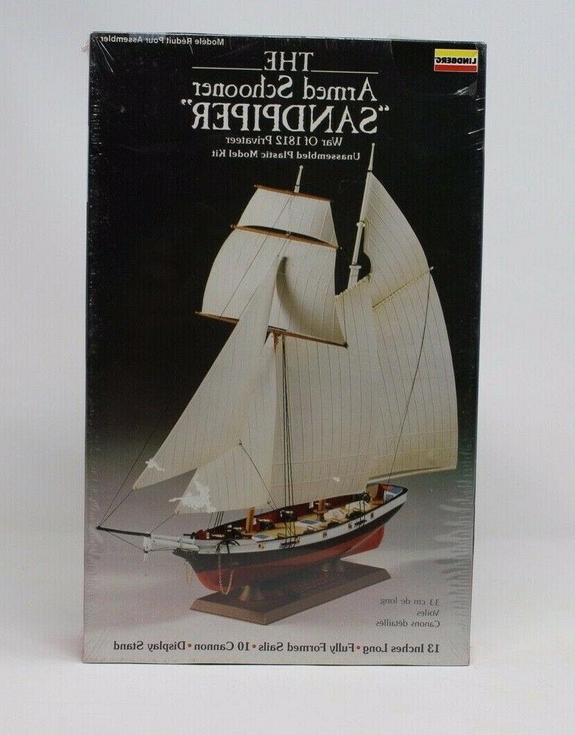 unassembled plastic model kit the armed schooner