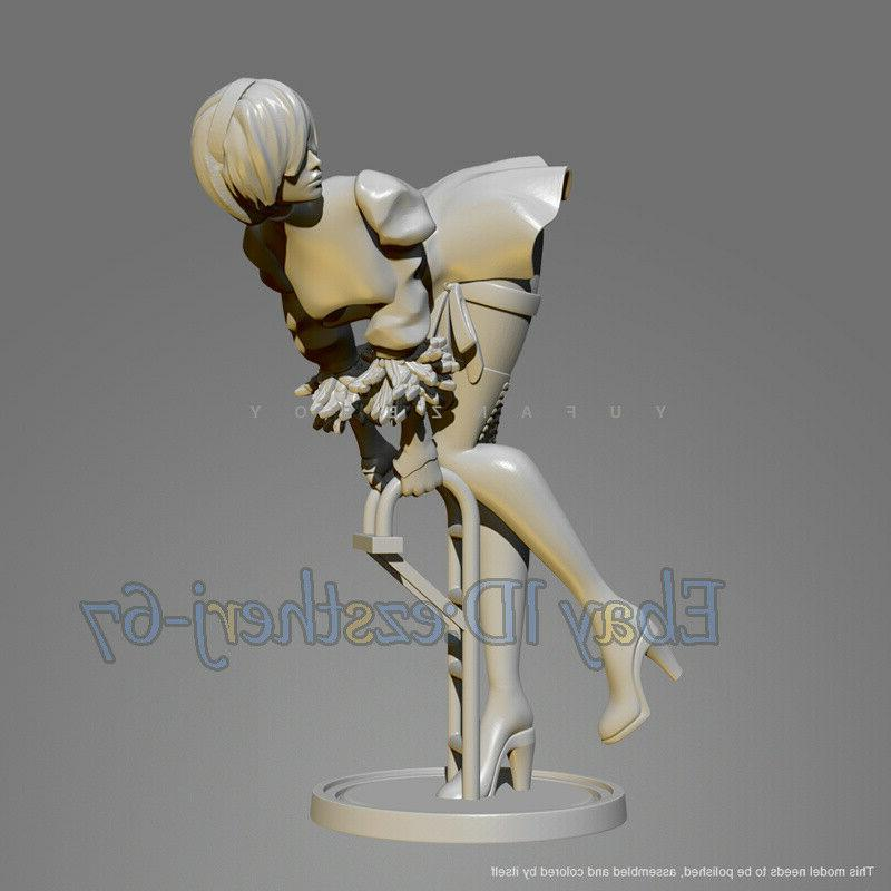 Unpainted 1/24 Beauty Girl Resin Figure Model Kit