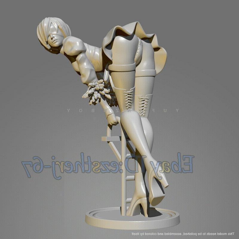 Unpainted Beauty Girl Climb Figure GK