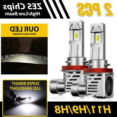 H11/H9/H8 120W LED Headlight Kit  High/ Low Beam Bulb Super