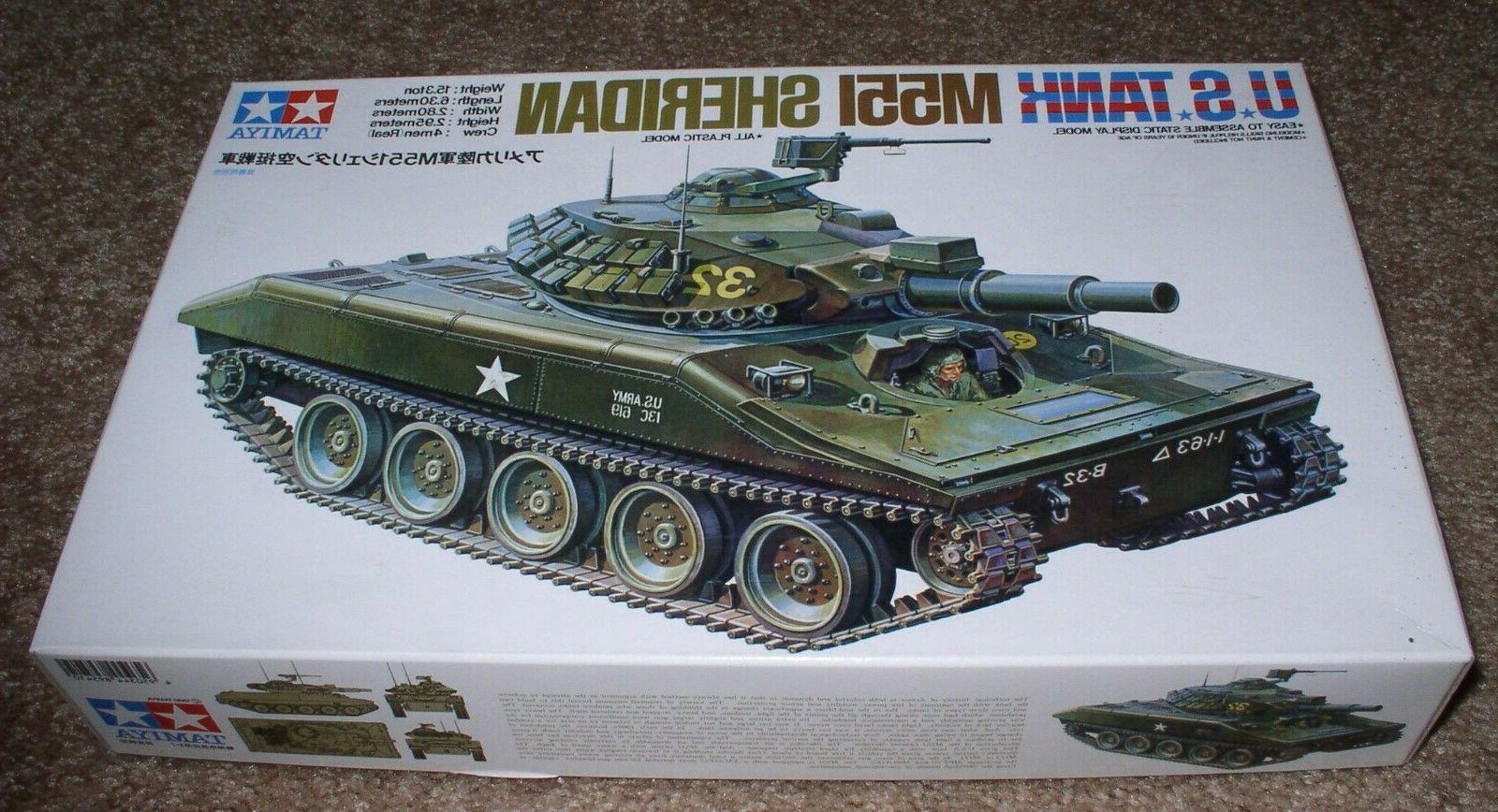 us tank m551 sheridan plastic model kit