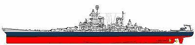 "USS Iowa Scale 53"" Long Free Anchor"