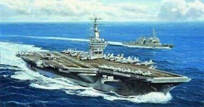 uss nimitz cvn68 aircraft carrier 2005 plastic