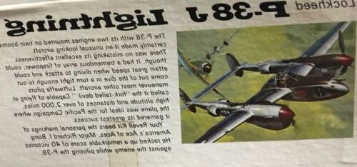 VINTAGE REVELL P-38J LIGHTNING AIRPLANE 1/32 SCALE H-280