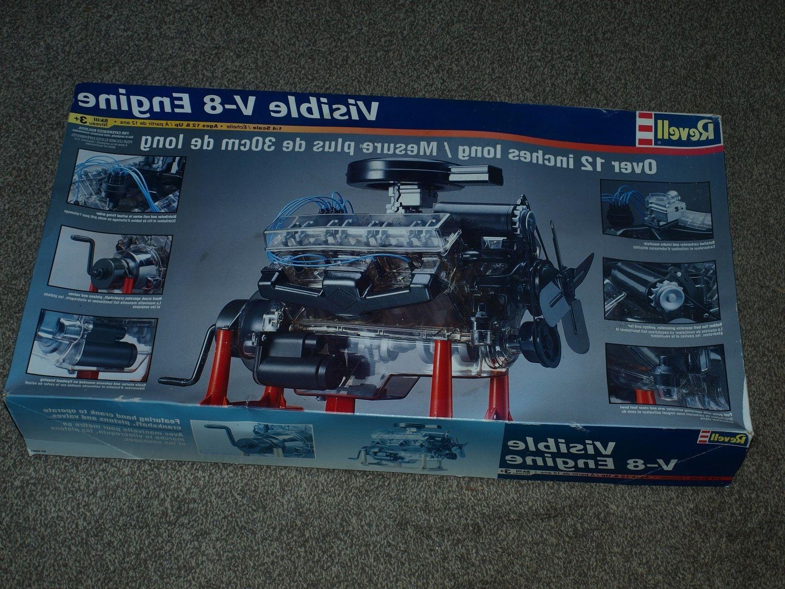 VINTAGE 1998 REVELL MONOGRAM 1:4 VISIBLE V8 ENGINE PLASTIC M