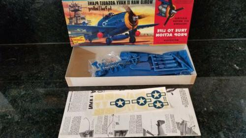 vintage motorized lindberg grumman navy assault plane