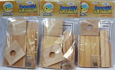wood model kit birdhouse wholesale lot of