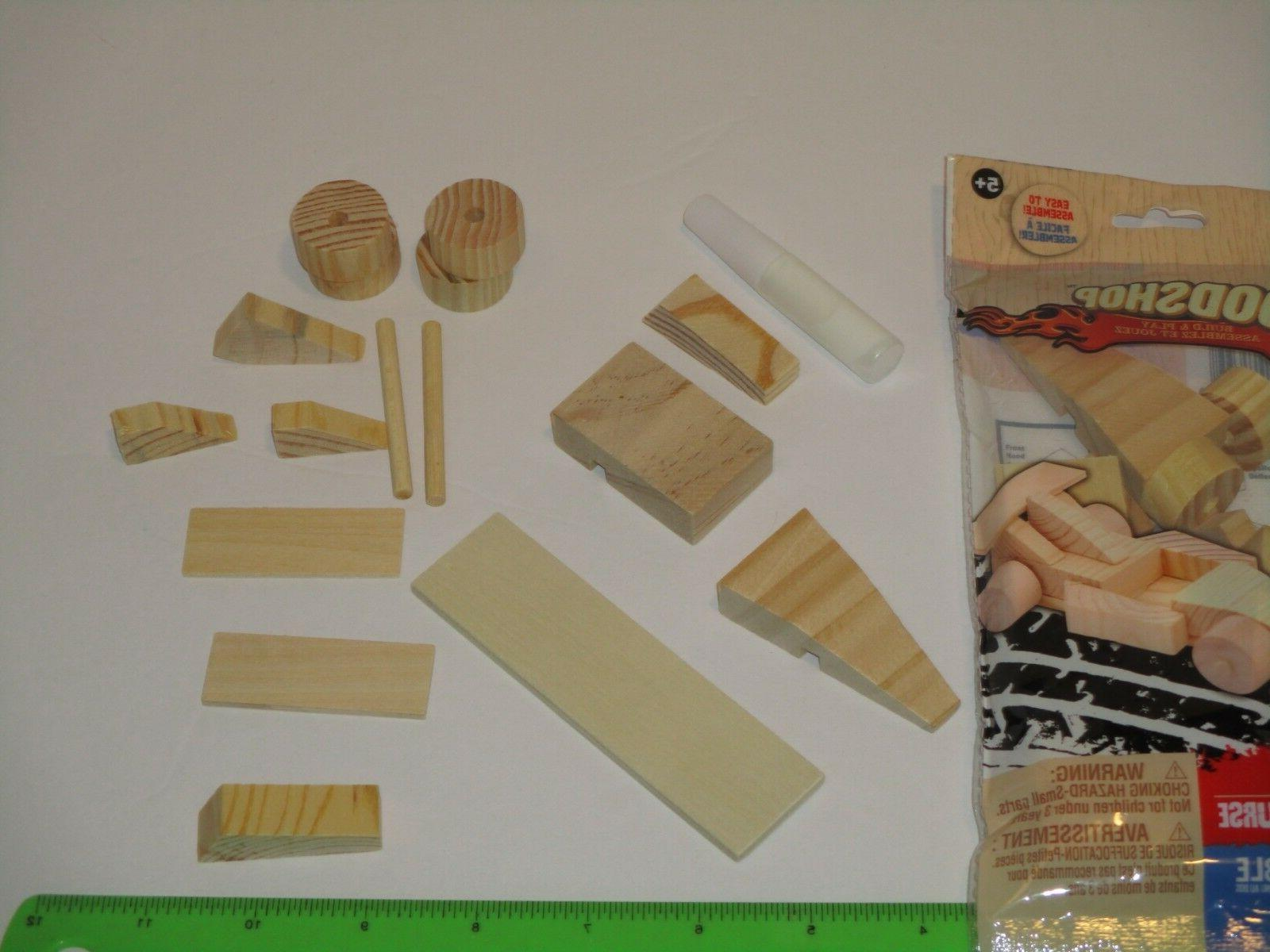 Wood Shop Model Kit - Wooden Toy, w/Glue