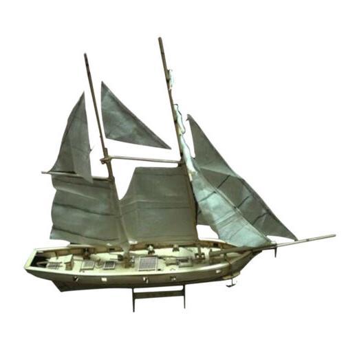 Wooden Sailboat Model Kit Halcon Baltimore Schooner Ship for